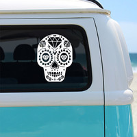 Sugar Skull Vinyl Decal Sticker - Car Sticker - Window Decal