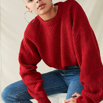 Urban Renewal Recycled Cropped Sweater | Urban Outfitters