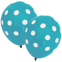 Robins Egg Blue Polka Dot Balloons