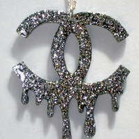 Silver glitter Designer Massacre necklace