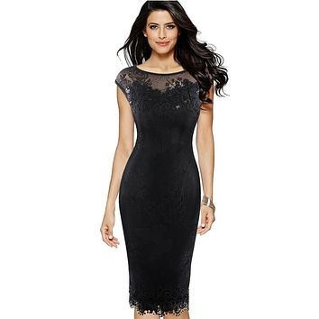 Womens dresses Sexy Sequins Crochet Butterfly Lace Party Bodycon Evening Bridemaid Mother of Bride Dress 211