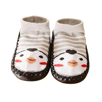 Cartoon Kids Toddler Baby Anti-slip Sock Shoes Boots Slipper Socks baby shoes shoe  for kids