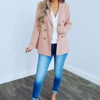 Beauty Within Blazer: Blush