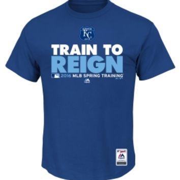 "Majestic Men's Kansas City Royals 2016 Spring Training ""Train to Reign"" Authentic Collection Royal T-Shirt 