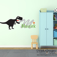 Dinosaur name wall decal, nursery wall decal, kids wall decal, monogram wall decal, boys room decor, nursery decals, childrens name decal