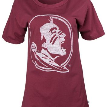 Official NCAA Florida State University Seminoles FSU Noles Women's Rayon Jersey Oversized Boyfriend T-Shirt