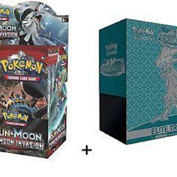 Pokemon TCG: Sun and Moon Crimson Invasion Booster Box and Elite Trainer
