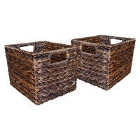Threshold™ Set of 2 Global Storage Cube - Dark (Small)