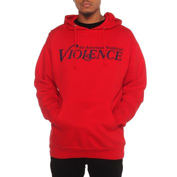 Violence Pullover Hoodie Red