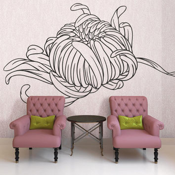 I218 Wall Decal Vinyl Sticker Art Decor Design flower pattern broad nature tentacles beautifully classic Living Room Bedroom