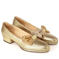 32mm Gold Bow Ferriday Pumps | Zoe Lee | Avenue32