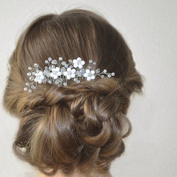 Bridal Hair Comb, Wedding Headpiece, Bridal Crystal Hair Piece, Wedding Crystal Hair Comb, Silver Hair Comb, Wedding Hair Accessories