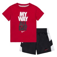 Nike ''My Way All Day'' Tee & Shorts Set - Baby Boy, Size: