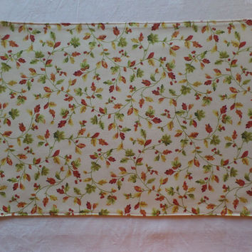 Handmade Fabric Placemat Harvest Breeze 13x17 inches