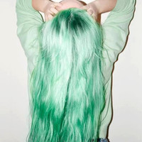 Minty Mermaid Pastel Hair Dye: A soft mint color!