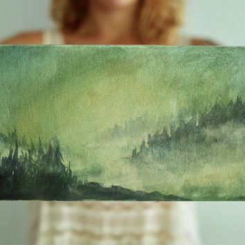 Watercolor Painting , Watercolor , Watercolor Landscape , Watercolor Art , Forest Painting , Woodland Scene , Nature Painting , Trees