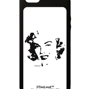 Marilyn Monroe Cutout Design iPhone 5C Grip Case  by TooLoud
