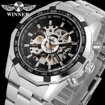 Winner Watch Men Skeleton Automatic Mechanical Watch gold skeleton vintage skeleton man watch Mens Watch Top Brand Luxury