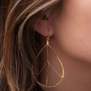 Frida Gold Plated Earrings (BJE088)