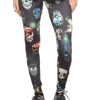 Royal Bones Crazy Skulls Leggings | Hot Topic