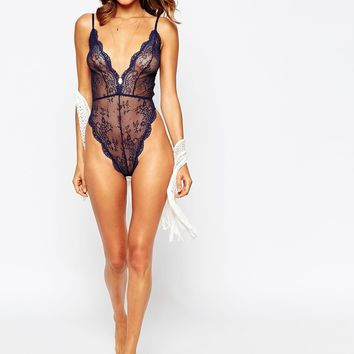 ASOS Brandy Lace High Leg Body