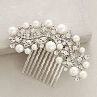 Pearled Majalis Comb by Anthropologie Silver All Hair