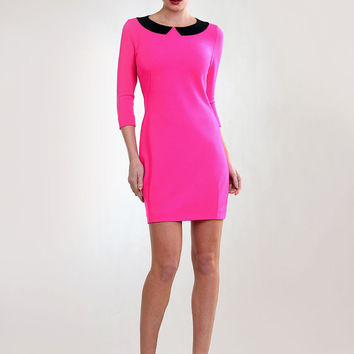 Fuchsia  heavy wool jersey dress