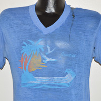 80s Sunset Jamaica Distressed t-shirt Small