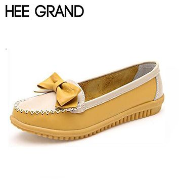 HEE GRAND Women's Soft Flat Bowknot Design Nurse Loafers/Shoes