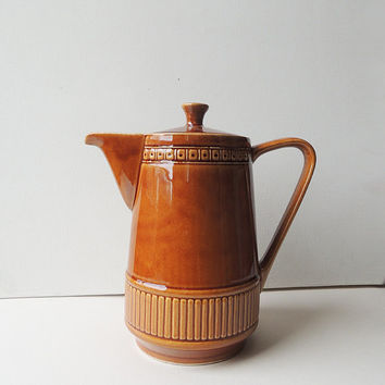 Waku Feuerfest Pottery Coffee Pot Mid Century