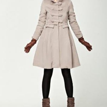 waistcontrolled double breasted wool coat by Lwangslife on Etsy