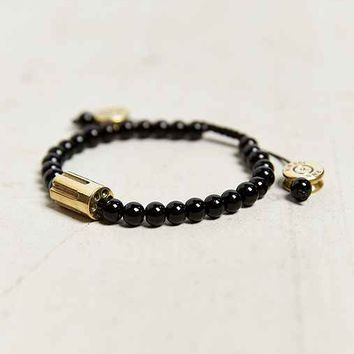 Lovebullets Barrel Bead Bracelet- Black One