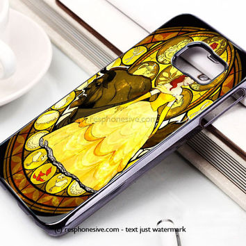 Disney Beauty And The Beast Painting Samsung Galaxy S6 and S6 Edge Rubber Case