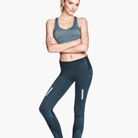 H&M - Running Tights - Gray blue - Ladies