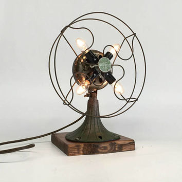 Antique Fan, Industrial Fan, Handyreeze Fan, Fan Lamp, Desk Fan, Vintage Desk Fan, Antique Industrial, Chicago Electric Mfg. Co.