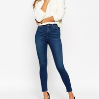 ASOS Ridley Skinny Ankle Grazer Jeans In Mahogany Wash