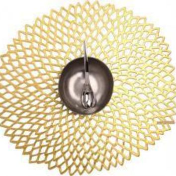 CHILEWICH Pressed Dahlia Placemat S/4 | Gold