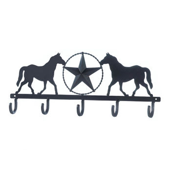Lonestar Horses Wall Hook