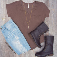 Knit Me Up Top - Mocha