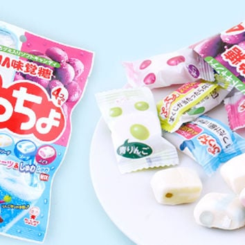 Buy Uha Puccho Assorted Fruits and Soda Bagged Japanese Chewy Candy at Tofu Cute