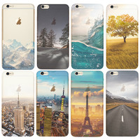 Fundas Ultra Thin Soft TPU Silicon Transparent Clear Back For Coque iPhone 7 5 5S SE 6 6S 7Plus Case Luxury Phone Cases Cover