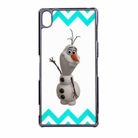 Olaf Disney Frozen Blue Chevron Sony Xperia Z3 Case