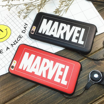 Marvel Letter Printed Case for iPhone