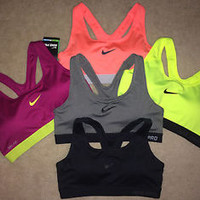 Nike Pro Padded Victory Compression Sports Bra Combat Dri-Fit Racerback 726934
