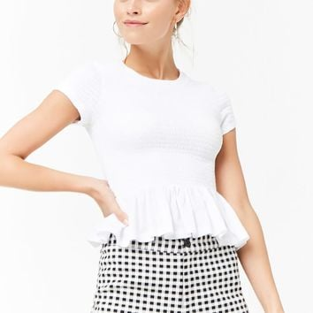 Smocked Ruffle Top