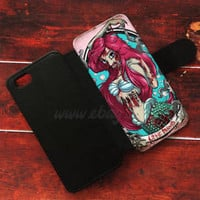 Ariel Zombie Wallet iPhone cases The little mermaid Samsung Wallet Phone Case