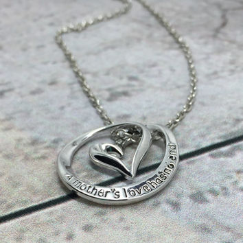 Mother's Day Daughter Son Necklace Pendant Sterling Silver Jewelry Silver Grandma Mothers Day Baby Child Children Mom Jewelry