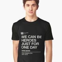 'We Can Be Heroes, Bowie' Graphic T-Shirt by hypnotzd
