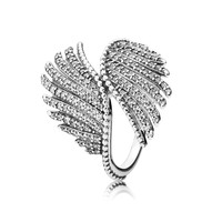 PANDORA Majestic Feathers Ring, Clear CZ - Size 7
