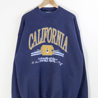 CAL BERKELEY SWEATSHIRT // california golden bears pullover / cal state berkeley / sports jumper / college / vintage / mens / xl